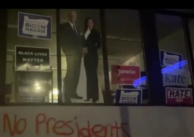 Democrats' Building in Portland, Oregon Defaced With 'F**k Biden', 'No Presidents' Graffiti