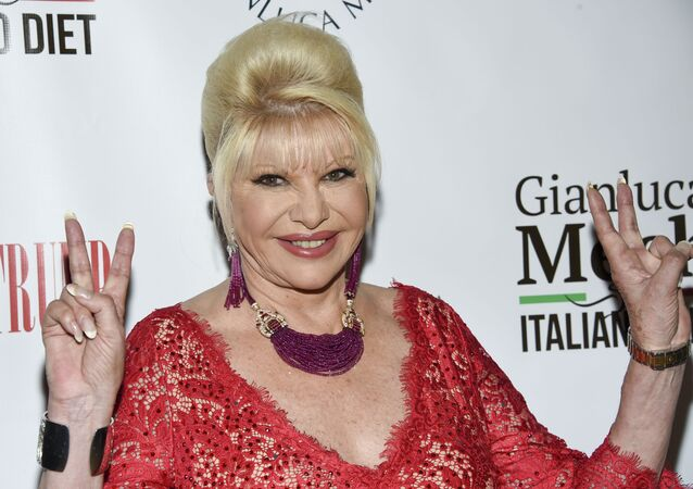 Ivana Trump announces the new Italiano Diet to stay healthy and fight obesity at the Oak Room at the Plaza Hotel on Wednesday, June 13, 2018, in New York