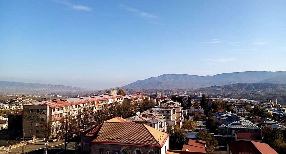 Stepanakert city in the morning of November 10, 2020