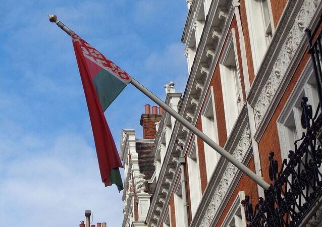 Flag of Belarus, Embassy of Belarus, Kensington Court, London