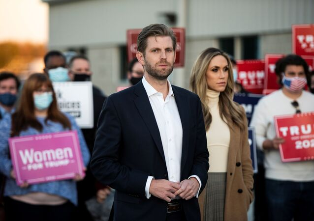 Eric Trump attends a news conference in Philadelphia