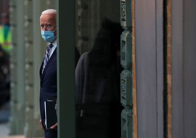 WILMINGTON, DELAWARE - NOVEMBER 10: U.S. President-elect Joe Biden leaves the Queen Theater where earlier in the day he addressed the media about the Trump Administration's lawsuit to overturn the Affordable Care Act on November 10, 2020 in Wilmington, Delaware. Mr. Biden also spoke about his plan to expand access to quality, affordable health care