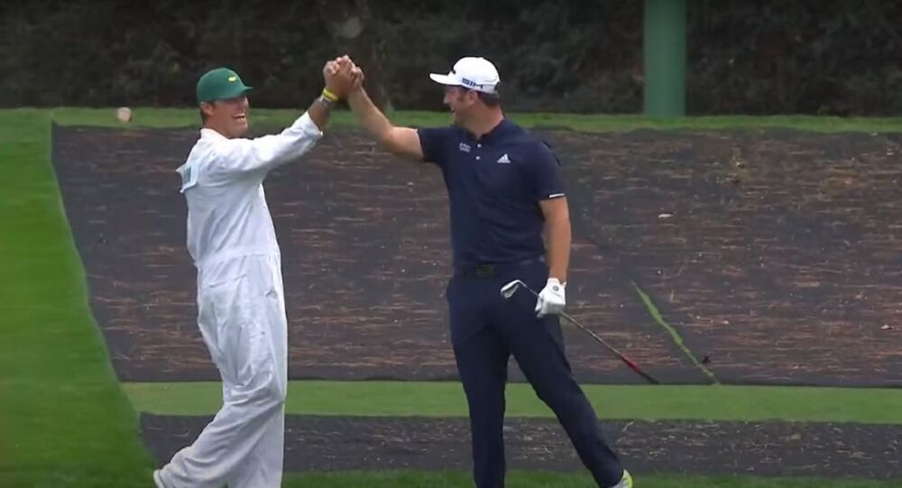 Jon Rahm skips to a hole-in-one on No. 16 | Masters Tuesday