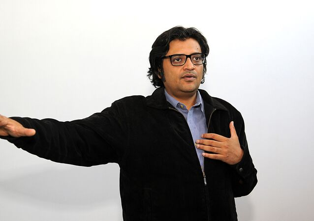 In this photograph taken on 26 April 2017, Indian television journalist Arnab Goswami poses during an interview with AFP in Mumbai. Arnab Goswami is considered India's most brash and controversial TV news anchor