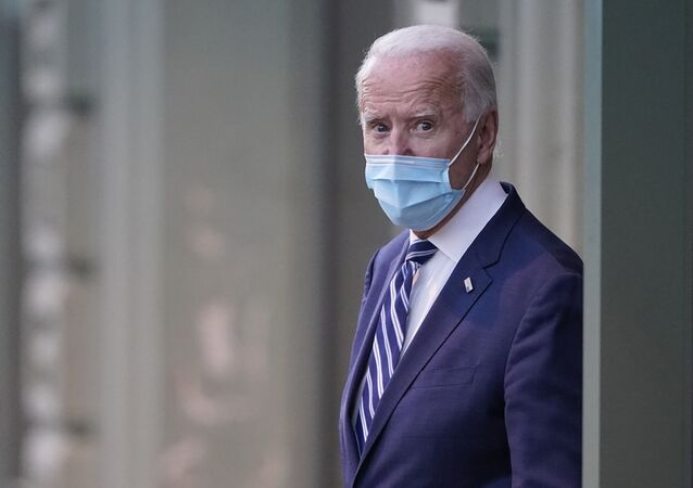 Joe Biden leaves The Queen theater, Tuesday, Nov. 10, 2020, in Wilmington, Del