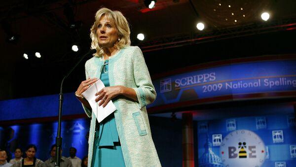 Jill Biden, wife of Vice President Joe Biden, speaks at the opening of the finals of the Scripps National Spelling Bee, in Washington, on Thursday, May 28, 2009.  - Sputnik International