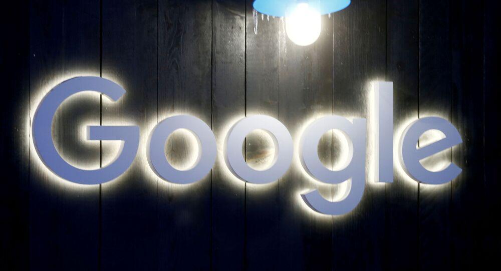 The Google logo in Davos, Switzerland 20 January 2020.