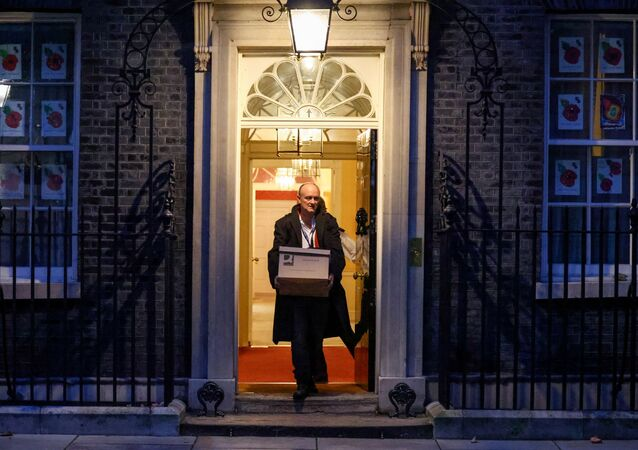 Dominic Cummings, special advisor for Britain's Prime Minister Boris Johnson leaves 10 Downing Street, in London, Britain, November 13, 2020.