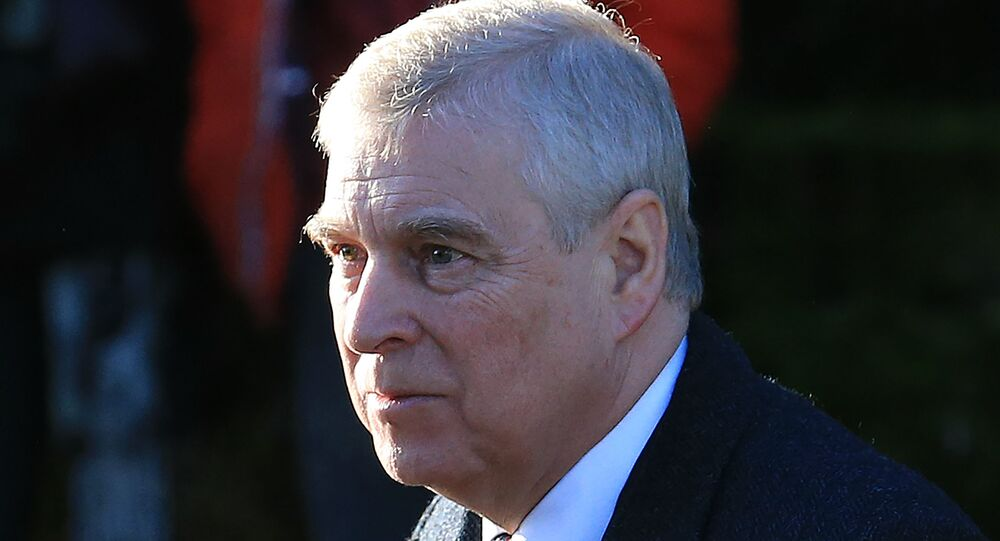 Britain's Prince Andrew, Duke of York, arrives to attend a church service at St Mary the Virgin Church in Hillington, Norfolk, eastern England, on January 19, 2020.