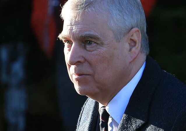 Britain's Prince Andrew, Duke of York, arrives to attend a church service at St Mary the Virgin Church in Hillington, Norfolk, eastern England, on 19 January 2020.