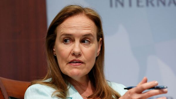 Former Defense Undersecretary for Policy Michele Flournoy, CEO of the Center for a New American Security, participates in a panel discussion at the Center for Strategic and International Studies (CSIS) in Washington, June 2, 2014. REUTERS/Yuri Gripas - Sputnik International