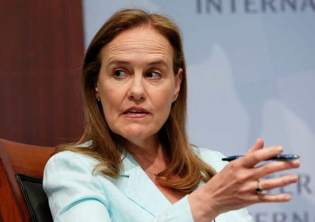 Former Defense Undersecretary for Policy Michele Flournoy, CEO of the Center for a New American Security, participates in a panel discussion at the Center for Strategic and International Studies (CSIS) in Washington, June 2, 2014. REUTERS/Yuri Gripas