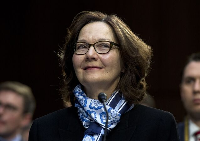 CIA Director Gina Haspel testifies before the Senate Intelligence Committee on Capitol Hill in Washington Tuesday, Jan. 29, 2019
