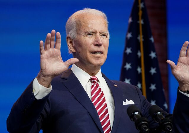 U.S. President-elect Joe Biden speaks about the U.S. economy following a briefing with economic advisers in Wilmington, Delaware, U.S., November 16, 2020