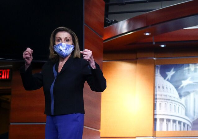 U.S. Speaker of the House of Representatives Nancy Pelosi (D-CA) departs after speaking to reporters about the coronavirus disease (COVID-19) pandemic and the 2020 U.S. election results during her weekly news conference at the U.S. Capitol in Washington, U.S., November 13, 2020