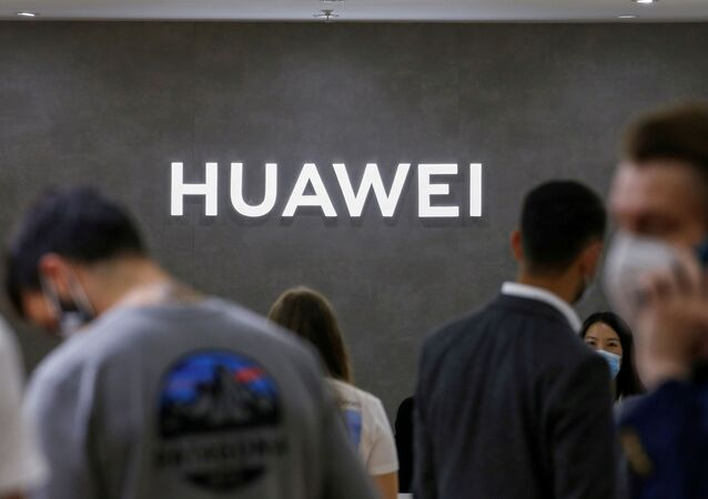 The Huawei logo is seen at the IFA consumer technology fair, amid the coronavirus disease (COVID-19) outbreak, in Berlin, Germany September 3, 2020.