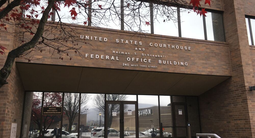 The United States Courthouse is seen, Tuesday, Nov. 17, 2020, in Williamsport, Pa. A hearing on the Trump campaign's federal lawsuit seeking to prevent Pennsylvania officials from certifying the vote results remains on track for Tuesday at the courthouse after a judge quickly denied the campaign's new lawyer's request for a delay.