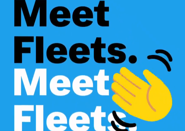 Screenshot from a Twitter video presentation of fleets