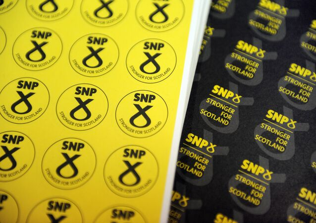 Memorabilia is on sale at a stand at the Scottish National Party (SNP) Conference in Glasgow, Scotland on October 15, 2016