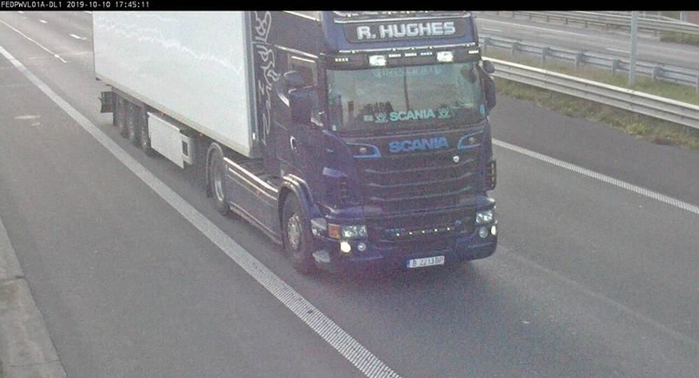 A CCTV camera caught Eamon Harrison as he drove a lorry for Ronan Hughes
