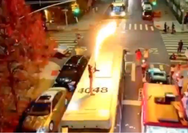 Flame Thrower Bus Jump Stunt by rapper Dupree G.O.D