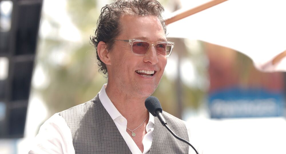 Actor Matthew McConaughey speaks during a ceremony in Los Angeles, California, US, 22 May 2019.