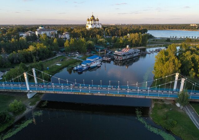 The Assumption Cathedral at the conjunction of the Volga and Kotorosl rivers in Yaroslavl