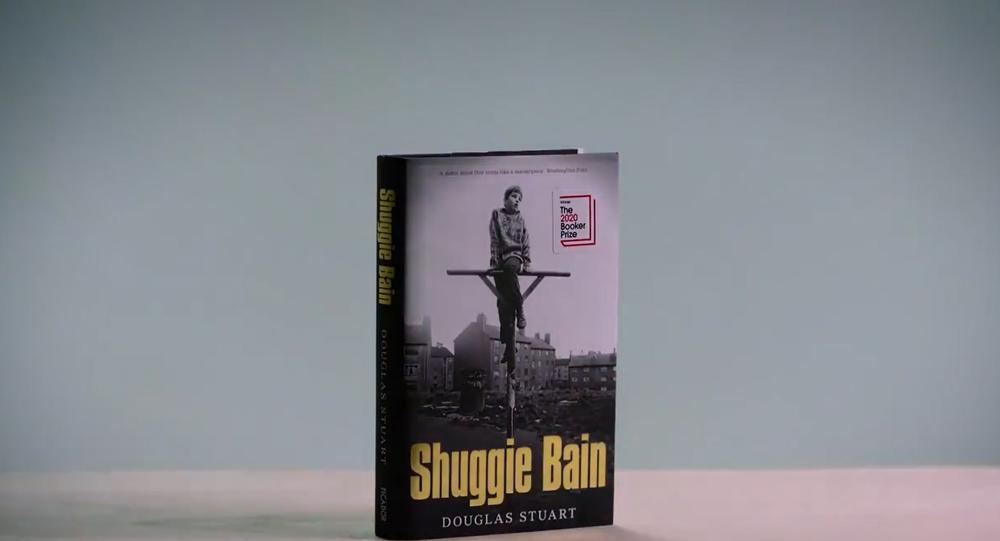 Screenshot from The Booker Prize video presentation of Douglas Stuart's novel Shuggie Bain
