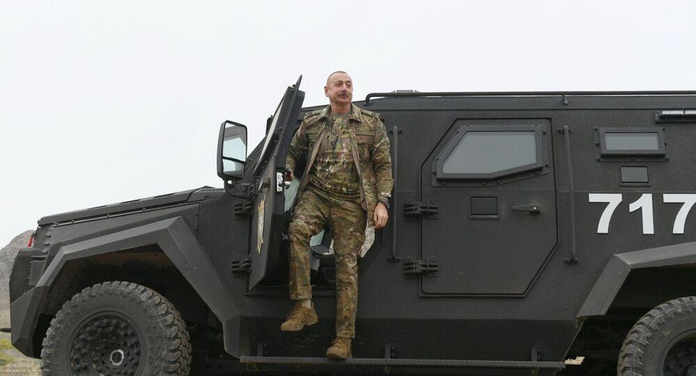 Azerbaijani President Ilham Aliyev visits Nagorno-Karabakh, 16 November 2020.