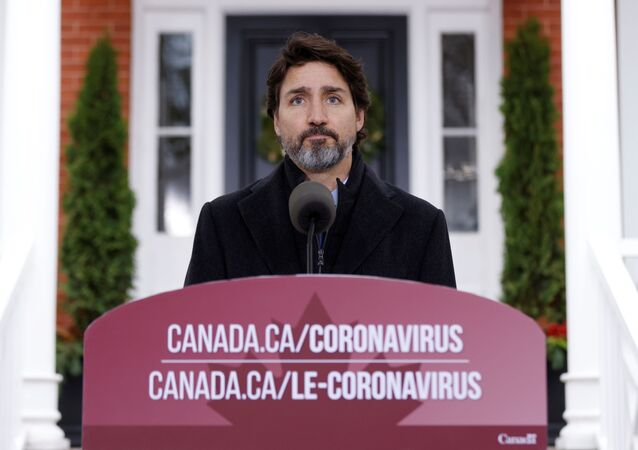 Canada's Prime Minister Justin Trudeau attends a news conference at Rideau Cottage, as efforts continue to help slow the spread of the coronavirus disease (COVID-19), in Ottawa, Ontario, Canada November 20, 2020.
