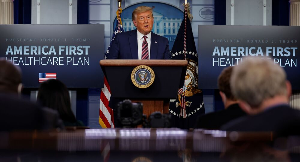 U.S. President Donald Trump speaks about prescription drug prices during an appearance in the Brady Press Briefing Room at the White House in Washington, U.S., November 20, 2020