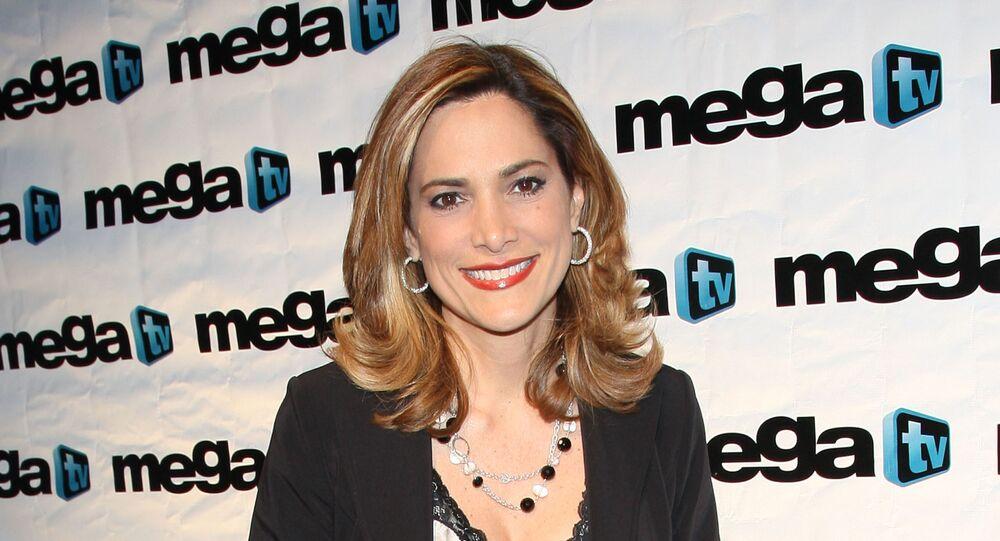 Maria Elvira Salazar attends the SBS-Mega TV Up Front at Guastavino's on April 24, 2008 in New York City.