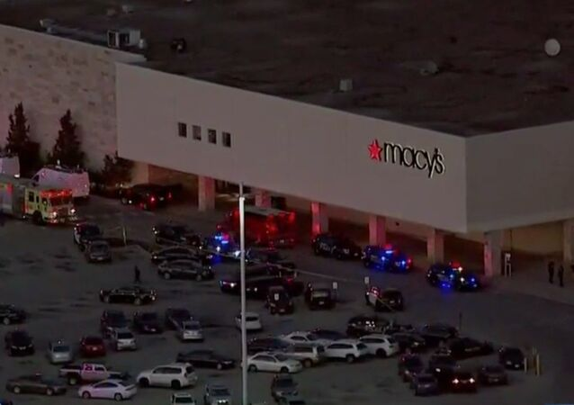 Screenshot image captures scene at the Mayfair Mall in Wauwatosa, Wisconsin, where law enforcement officials have indicated an active shooter situation has unfolded. Multiple injures have been reported; however,  Wauwatosa Mayor Dennis McBride indicated that injuries are non-life threatening.