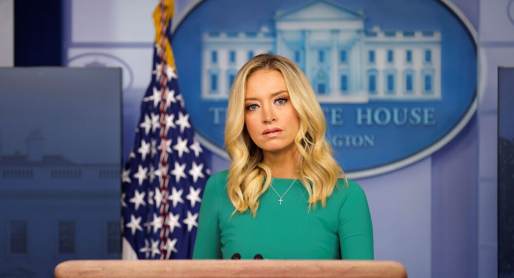 White House Press Secretary Kayleigh McEnany holds a press briefing at the White House in Washington, DC, 20 November 2020.