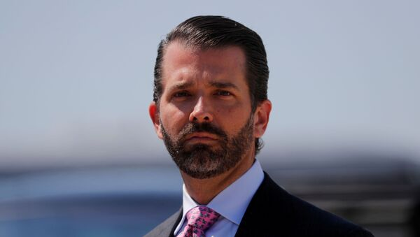 Donald Trump Jr. arrives with his father U.S. President Donald Trump after landing aboard Air Force One at General Mitchell International Airport in Milwaukee, Wisconsin, U.S., July 12, 2019 - Sputnik International