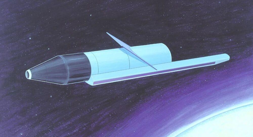 Space-based radar, this one a Defence Intelligence Agency illustration of a Soviet Radar Ocean Reconnaissance Satellite.