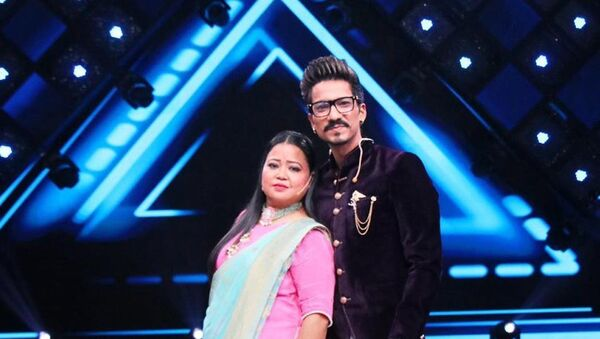 Indian comedian Bharti Singh and her husband Haarsh Limbachiyaa - Sputnik International