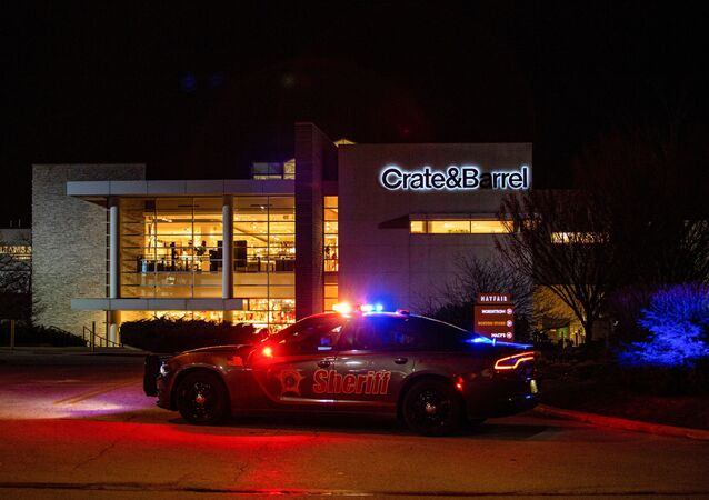 Emergency personnel work at the scene of a shooting at the Mayfair shopping mall in Wauwatosa, Wisconsin, U.S., November 20, 2020