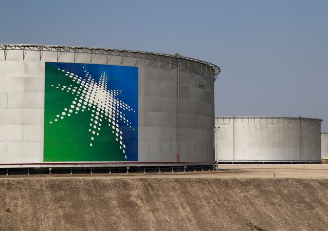 A view shows branded oil tanks at Saudi Aramco oil facility in Abqaiq, Saudi Arabia October 12, 2019.