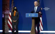 U.S. President-elect Biden speaks after meeting with transition coronavirus advisory board in Wilmington, Delaware