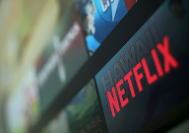 The Netflix logo is pictured on a television in this illustration photograph taken in Encinitas, California, U.S., January 18, 2017