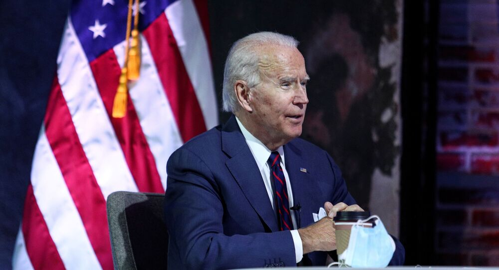 Joe Biden receives a national security briefing in Wilmington, Delaware, U.S., November 17, 2020