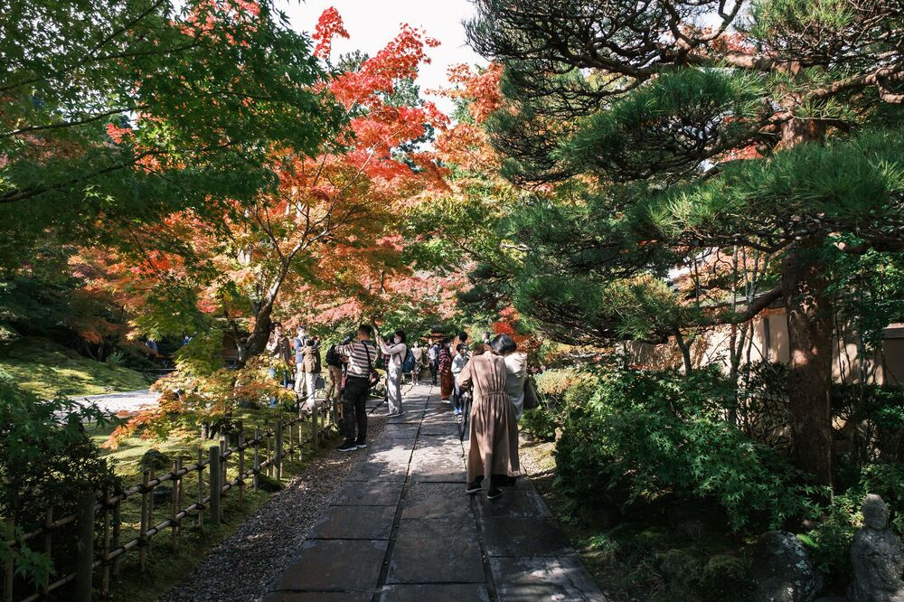 The Entsuin temple in autumn.