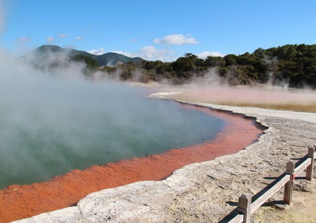 Volcanic lake. New Zeland