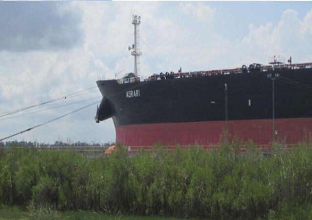 Crude oil tanker Agrari's operated by the TMS Tankers Ltd