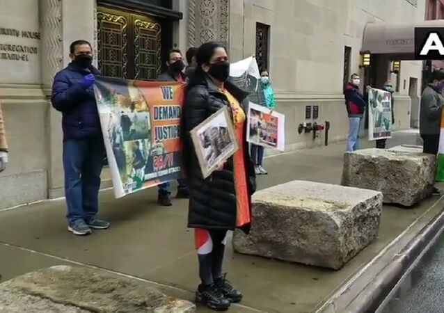 Indian Americans in New York hold protest outside Pak Consulate, Times Square on 2008 Mumbai attacks anniversary