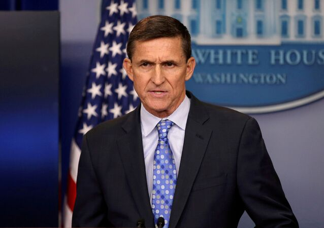 Then national security adviser General Michael Flynn delivers a statement daily briefing at the White House in Washington, US, February 1, 2017