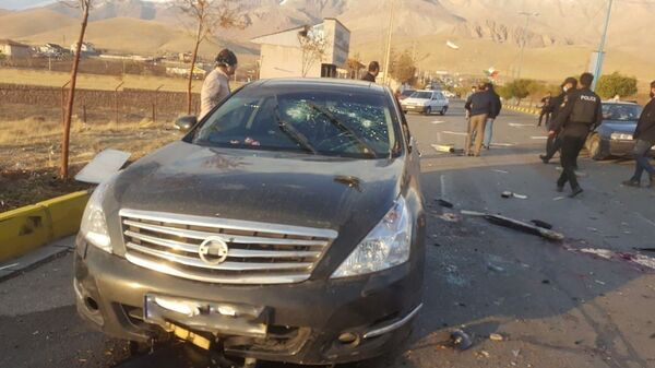 A view shows the scene of the attack that killed Prominent Iranian scientist Mohsen Fakhrizadeh, outside Tehran, Iran, November 27, 2020. - Sputnik International