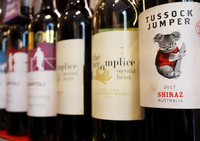 Bottles of Australian wine are seen at a store selling imported wine in Beijing, China November 27, 2020.