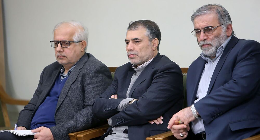 Prominent Iranian scientist Mohsen Fakhrizadeh is seen in Iran, in this undated photo.